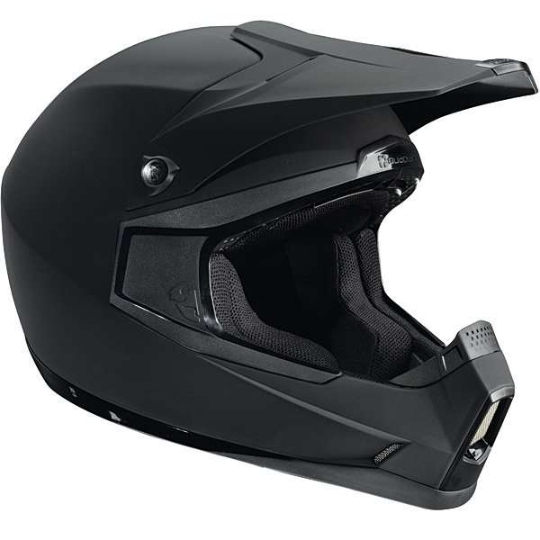 Thor Quadrant Solid black brushed motorcycle helmet